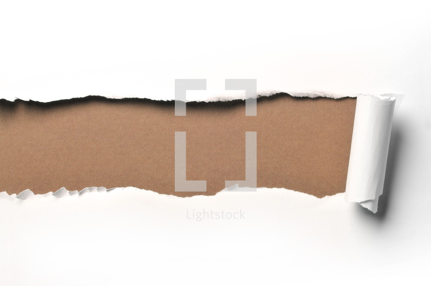 ripped paper brown