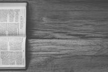 Sideways Bible opened to Galatians