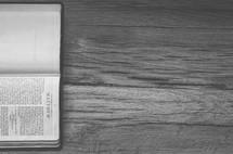 Sideways Bible opened to Matthews