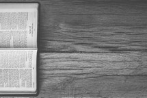 Sideways Bible opened to John