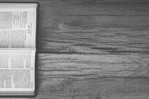 sideways Bible opened to Mark