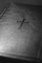 cross on a leather Bible cover