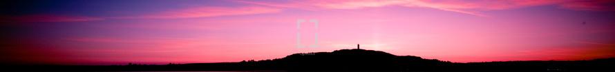 panorama of a purple and fuchsia sky