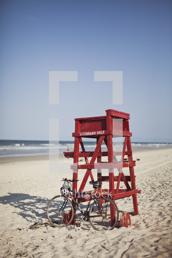 Lifeguard chair at the beach