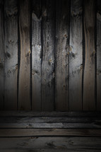 Rustic boards in shades of gray and tan.