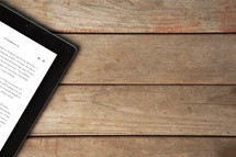 scripture on an iPad