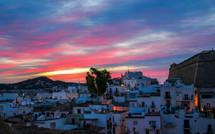 Sunrise over Sa Penya, Ibiza.
