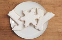 Christmas sugar cookies spell JOY!