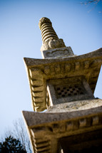 top of a temple tower