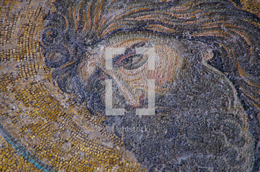 Deësis Mosaic - The most famous of Hagia Sophia's Byzantine mosaics - John the Baptist is portrayed