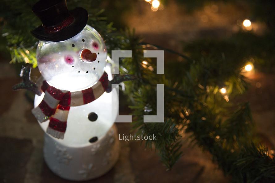 Lit snowman figurine