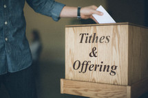 Tithe and offering box