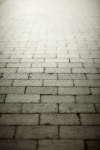 A brick laid pathway to infinity.