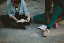 two people reading scripture