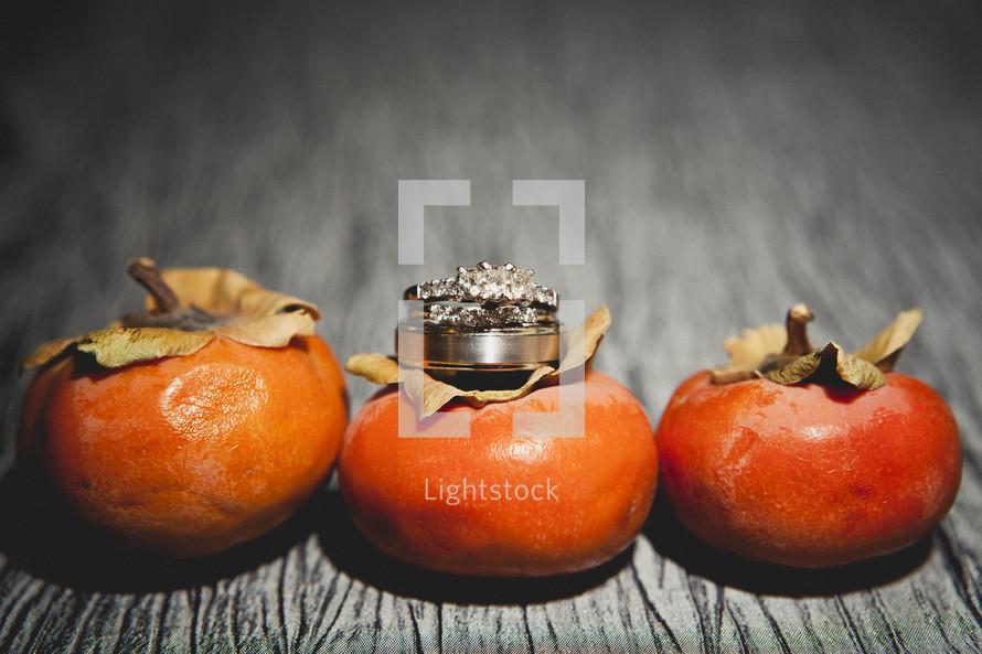 Rings on top of oranges