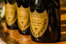 Bottles of Dom Pérignon champagne