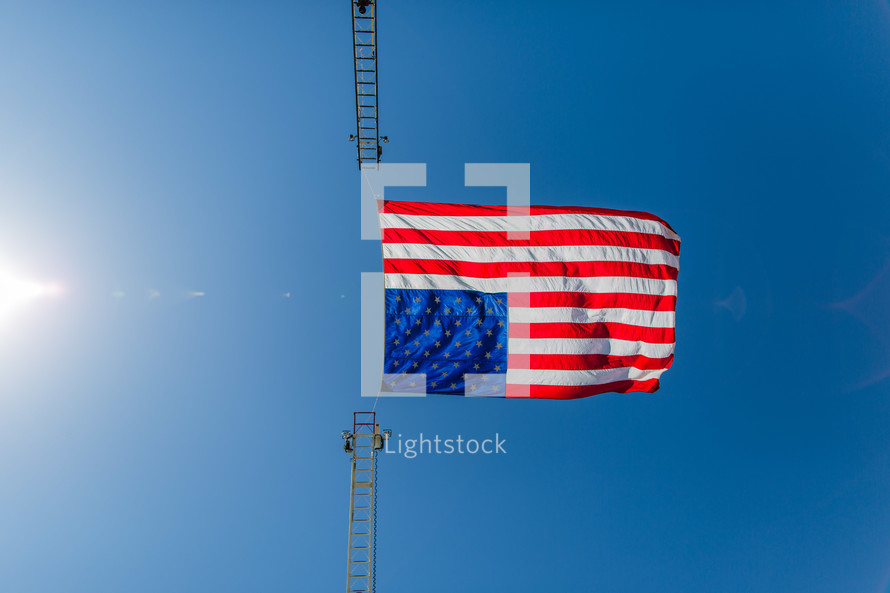 Freedom, Independence, 4th of July, American flag red white and blue Stars and Stripes