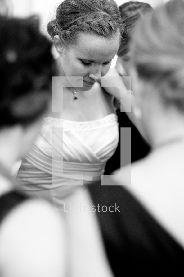 bride in prayer