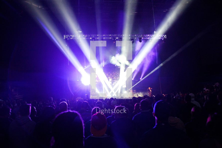 stage lights at a concert