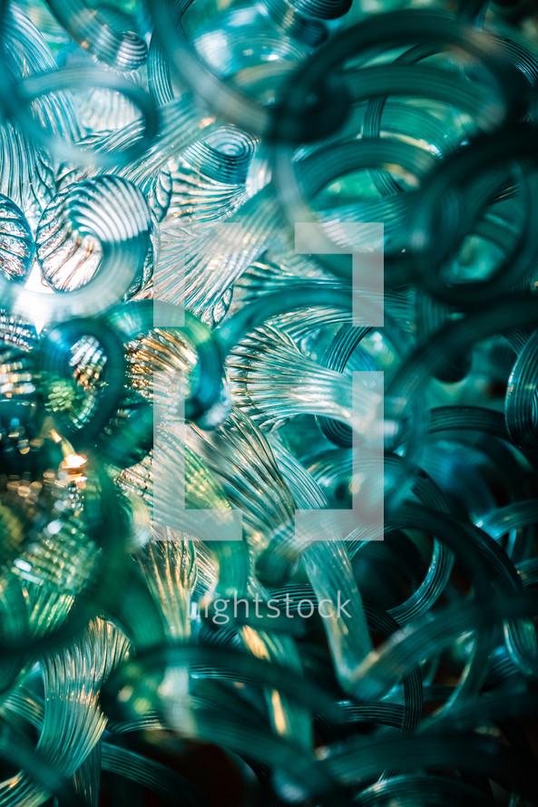 Glass lighting sculpture chandelier