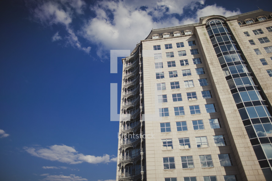 city apartment building