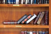 Bookshelf of Hebrew Torah and books