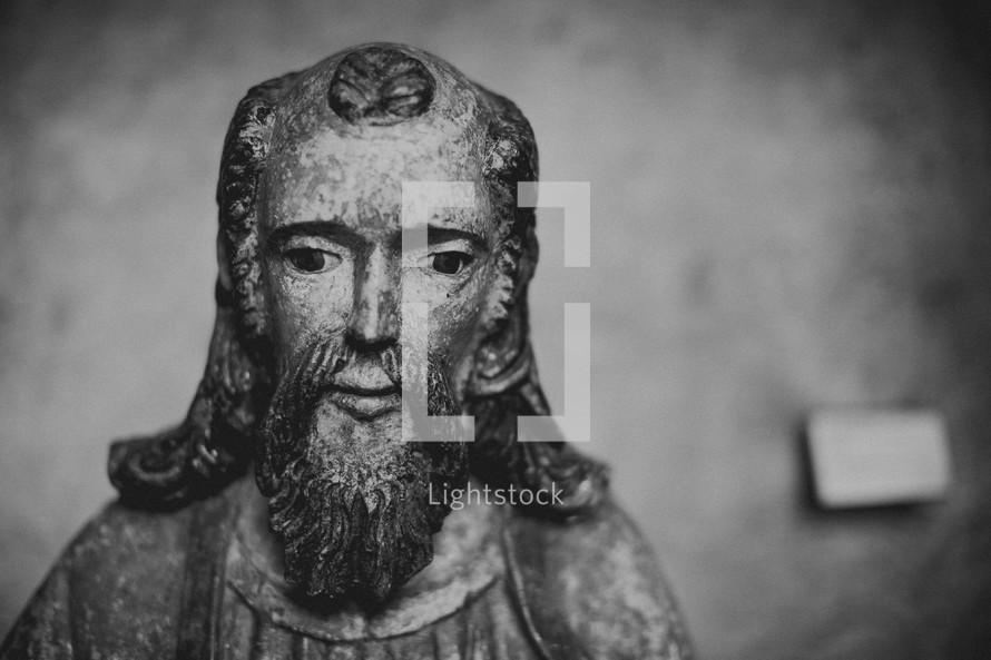 Wooden statue of Jesus