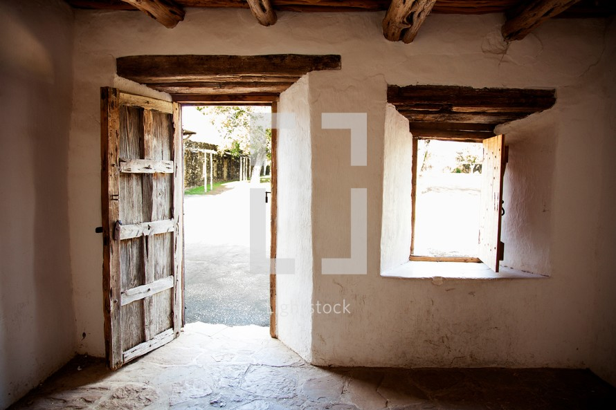 interior of an old Spanish Mission