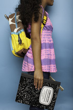 a girl child ready for school