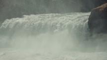 rushing water at a waterfall