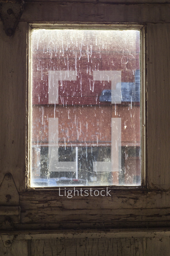 streaks on a dirty window - lacking clarity