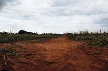 red dirt on the ground