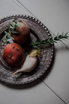 potatoes on a plate