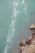 swirling sea water
