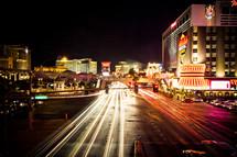 looking down the Las Vegas strip