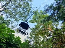 chair lift in summer