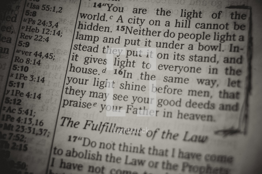 light of the world - Bible verse