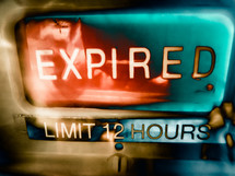 Expired sign