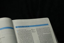 Open Bible pages
