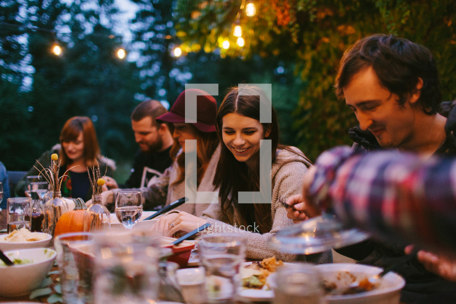 a fall dinner party outdoors
