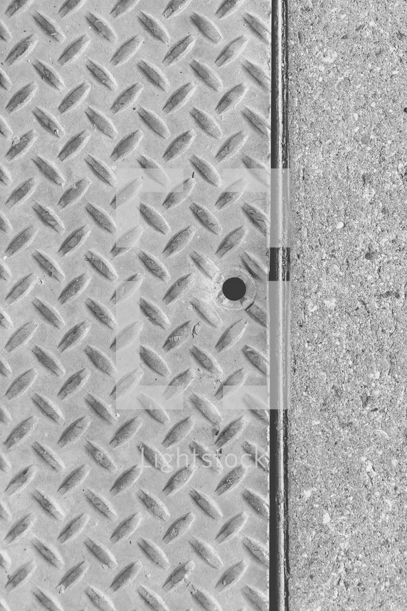 Metal and concrete texture.
