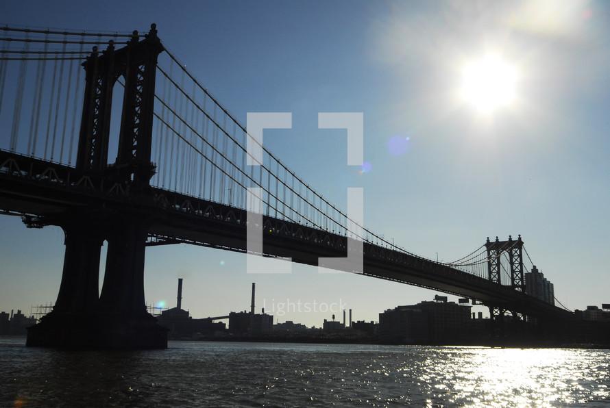 City bridge over water