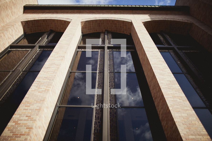 A window in the shape of a cross