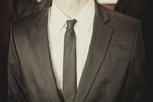 Tuxedo suit on mannequin