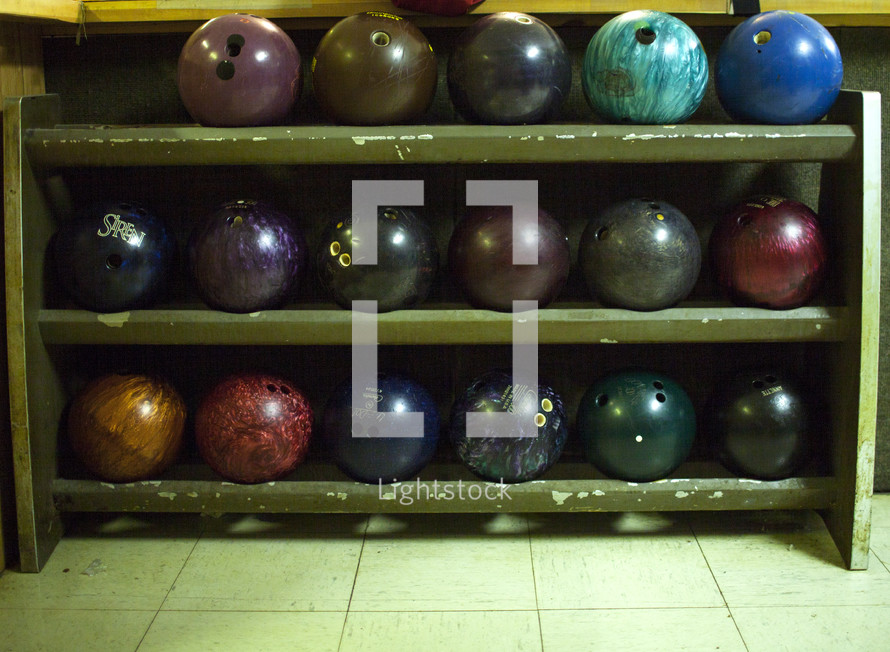 bowling ball rack