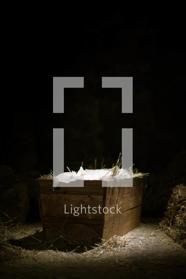 The manger where Jesus was born