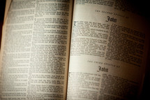 pages of a Bible opened to John