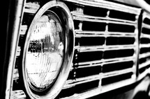 headlights on an old truck