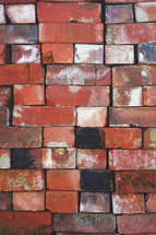 stacked red bricks