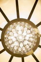 bulbs on a chandelier